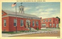 pst001148 - Wareham, Mass USA,  Post Office Postcard, Postoffice Post Card Old Vintage Antique