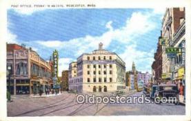 pst001149 - Worcester, Mass USA,  Post Office Postcard, Postoffice Post Card Old Vintage Antique