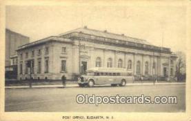 pst001151 - Elizabeth, NJ USA,  Post Office Postcard, Postoffice Post Card Old Vintage Antique