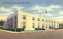 pst001157 - West Palm Beach, FL USA,  Post Office Postcard, Postoffice Post Card Old Vintage Antique