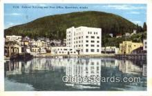 pst001160 - Ketchikan, Alaska,  Post Office Postcard, Postoffice Post Card Old Vintage Antique