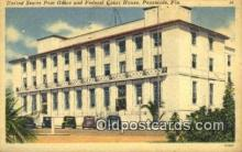 pst001163 - Pensacola, FL USA,  Post Office Postcard, Postoffice Post Card Old Vintage Antique