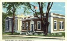 pst001172 - St Johnsbury, VT USA,  Post Office Postcard, Postoffice Post Card Old Vintage Antique