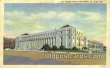 pst001186 - St Louis, MO USA,  Post Office Postcard, Postoffice Post Card Old Vintage Antique