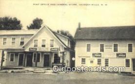 pst001189 - Georges Mills, NH USA,  Post Office Postcard, Postoffice Post Card Old Vintage Antique