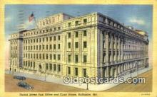 pst001201 - Baltimore, MD USA,  Post Office Postcard, Postoffice Post Card Old Vintage Antique