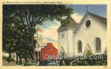 pst001204 - Nantucket, Mass USA,  Post Office Postcard, Postoffice Post Card Old Vintage Antique