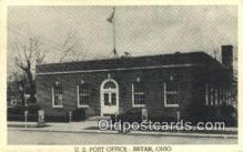 pst001206 - Bryan, OH USA,  Post Office Postcard, Postoffice Post Card Old Vintage Antique