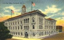 pst001214 - Savannah, GA USA,  Post Office Postcard, Postoffice Post Card Old Vintage Antique