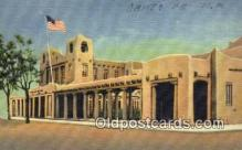 pst001216 - Santa Fe, NM USA,  Post Office Postcard, Postoffice Post Card Old Vintage Antique