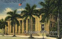 pst001227 - Ft Myers, FL USA,  Post Office Postcard, Postoffice Post Card Old Vintage Antique