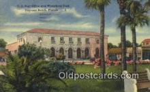pst001228 - Daytona Beach, FL USA,  Post Office Postcard, Postoffice Post Card Old Vintage Antique