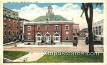 pst001230 - New London, Conn USA,  Post Office Postcard, Postoffice Post Card Old Vintage Antique