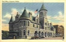 pst001232 - Augusta, ME USA,  Post Office Postcard, Postoffice Post Card Old Vintage Antique