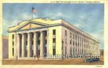 pst001259 - Topeka, KS USA,  Post Office Postcard, Postoffice Post Card Old Vintage Antique