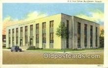 pst001260 - Hutchinson, KS USA,  Post Office Postcard, Postoffice Post Card Old Vintage Antique