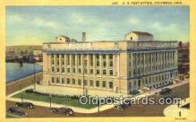 pst001262 - Columbus, OH USA,  Post Office Postcard, Postoffice Post Card Old Vintage Antique