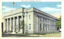 pst001270 - Appleton, Wis USA,  Post Office Postcard, Postoffice Post Card Old Vintage Antique