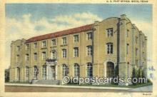 pst001295 - Waco, TX USA,  Post Office Postcard, Postoffice Post Card Old Vintage Antique