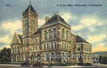 pst001296 - Williamsport, PA USA,  Post Office Postcard, Postoffice Post Card Old Vintage Antique