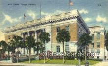 pst001302 - Tampa, FL USA,  Post Office Postcard, Postoffice Post Card Old Vintage Antique