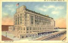 pst001303 - Atlanta, GA USA,  Post Office Postcard, Postoffice Post Card Old Vintage Antique