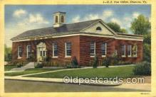 pst001311 - Emporia, VA USA,  Post Office Postcard, Postoffice Post Card Old Vintage Antique