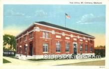 pst001341 - Mt Clemens, MI USA,  Post Office Postcard, Postoffice Post Card Old Vintage Antique