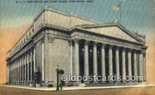 pst001353 - New Haven, CT USA,  Post Office Postcard, Postoffice Post Card Old Vintage Antique