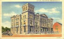 pst001368 - Charleston, SC,  Post Office Postcard, Postoffice Post Card Old Vintage Antique