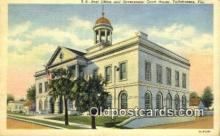 pst001372 - Tallahassee, FL USA,  Post Office Postcard, Postoffice Post Card Old Vintage Antique