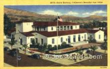 pst001382 - Santa Barbara, CA USA,  Post Office Postcard, Postoffice Post Card Old Vintage Antique