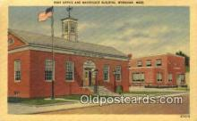 pst001385 - Wareham, Mass USA,  Post Office Postcard, Postoffice Post Card Old Vintage Antique