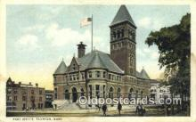 pst001392 - Taunton, Mass USA,  Post Office Postcard, Postoffice Post Card Old Vintage Antique