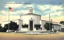 pst001396 - Miami Beach, FL USA,  Post Office Postcard, Postoffice Post Card Old Vintage Antique
