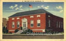 pst001414 - Ebensburg, PA USA,  Post Office Postcard, Postoffice Post Card Old Vintage Antique