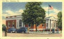 pst001436 - Statesboro, GA USA,  Post Office Postcard, Postoffice Post Card Old Vintage Antique