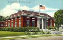 pst001437 - West Point, GA USA,  Post Office Postcard, Postoffice Post Card Old Vintage Antique