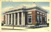 pst001441 - Griffins, GA USA,  Post Office Postcard, Postoffice Post Card Old Vintage Antique