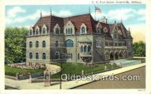 pst001446 - Evansville, IN USA,  Post Office Postcard, Postoffice Post Card Old Vintage Antique