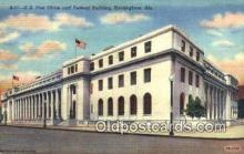 pst001451 - Birmingham, AL USA,  Post Office Postcard, Postoffice Post Card Old Vintage Antique