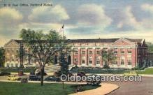 pst001454 - Portland, ME USA,  Post Office Postcard, Postoffice Post Card Old Vintage Antique