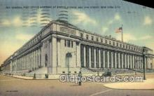 pst001492 - The general Post office building at Eight Avenue New York City USA Postoffice Old Vintage Post Card Postcards
