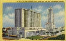 pst001493 - US post office and court house and city hall Los Angeles California USA Postoffice Old Vintage Post Card Postcards