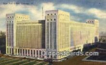 pst001495 - New Post Office Chicago Ill USA Postoffice Old Vintage Post Card Postcards