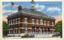 pst001496 - Post Office Brunswick GA USA Postoffice Old Vintage Post Card Postcards