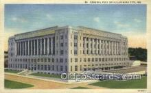 pst001497 - General Post Office Kansas City MO USA Postoffice Old Vintage Post Card Postcards