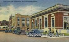 pst001499 - Post Office And Washington Street Biddeford Maine USA Postoffice Old Vintage Post Card Postcards