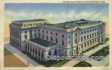 pst001511 - United states Post Office Houston Texas USA Postoffice Old Vintage Post Card Postcards