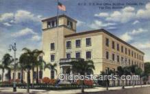 pst001514 - US Post Office building Orlando Florida USA Postoffice Old Vintage Post Card Postcards